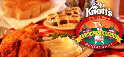 Picture Courtesy of the Mrs. Knott's Chicken Dinner Restaurant's Facebook Page