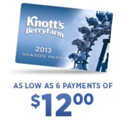 Knott's season passes