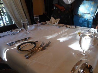 Table setting at Club 33