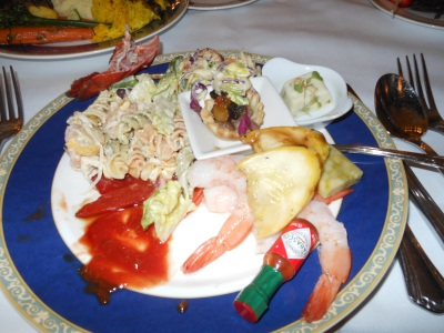 Appetizers at Club 33