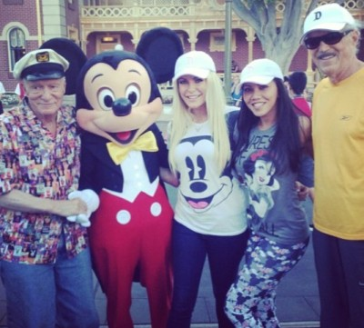 Hugh Hefner with Mickey Mouse
