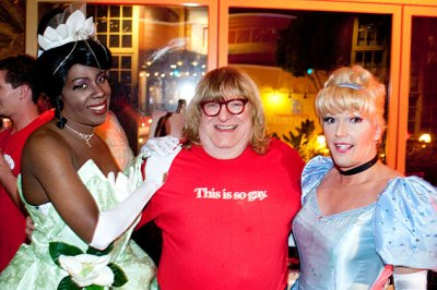 Comedian, author, and man-about-town Bruce Vilanch hanging with the fantasy characters.