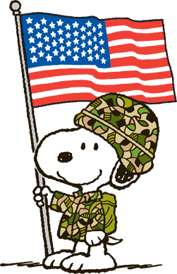 Snoopy honors Veterans
